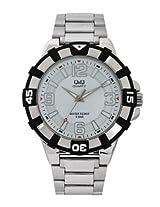 Q&Q Analog White Dial Men's Watch - Q840J201Y