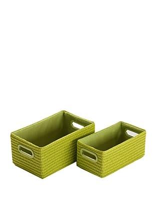 Zings Set 2 Cajas Rectangulares Verde