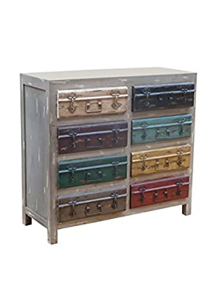 Coast To Coast Two Drawer Two Door Cabinet, Grey/Multi