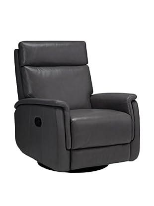 Onyx San Antonio Top Grain Leather Armchair, Grey