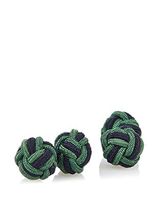 J. McLaughlin Men's Green & Navy Braided Silk Knot Cufflink