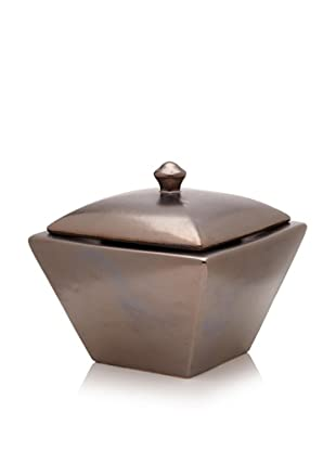 Pacific Décor Taper Flamepot with Lid, Metallic Black