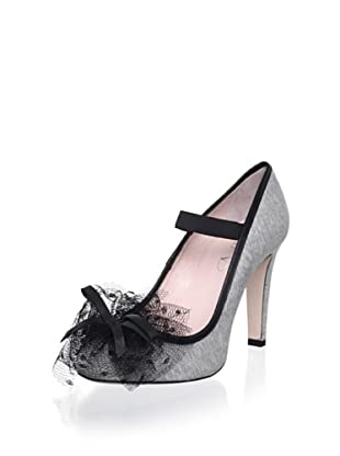 Red Valentino Women's Tulle Pump (Gray)