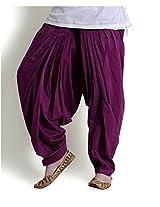 Ashmita Patiyala Salwar For Women-Purple