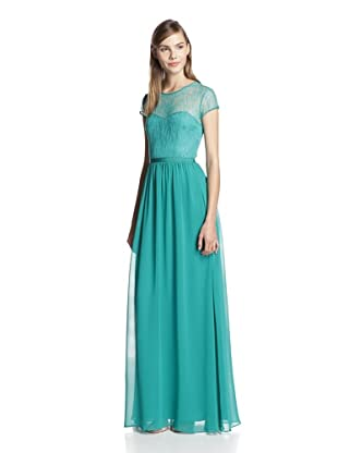 Erin Fetherston Women's Capsleeve Lace Gown (Parrot Green)