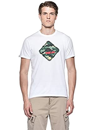 Hot Buttered Camiseta Camouflage (Blanco)