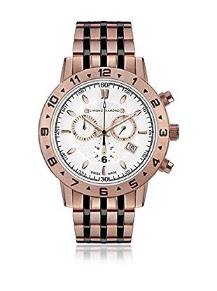 Chrono Diamond Uhr mit schweizer Quarzuhrwerk Man 11600 Hektor rosé 44 mm