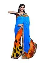 Pikasho Party Wear Cutpatch Saree 8019