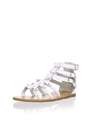 L'Amour Shoes Kid's Gladiator Sandal (White)