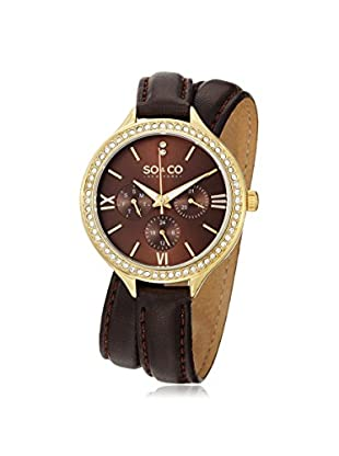 SO&CO New York Women's Madison Metal Watch, Brown