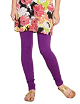 Diva  Cotton Knit Purple Churidar