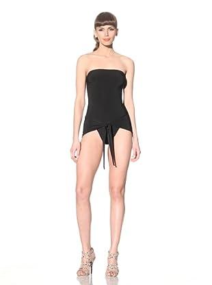 Norma Kamali Women's Strapless Wrap & Tie Swimsuit (Black)