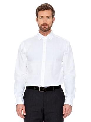 Cortefiel Hemd unifarben (Weiß)