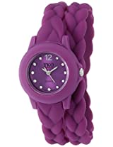 TKO ORLOGI Women's TK646WIN Braided Double Wrap Analog Display Quartz Purple Watch