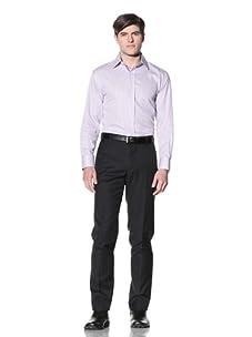 English Laundry Men's Stripe Dress Shirt (White/Purple)