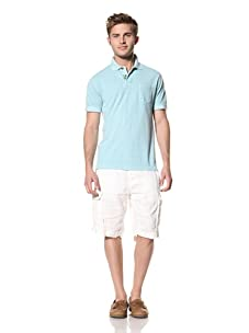 Tailor Vintage Men's Garment-Dyed Polo (Aqua)