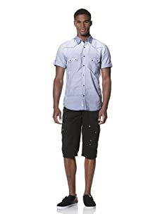 Projek Raw Men's Short Sleeve Woven Shirt (Blue)