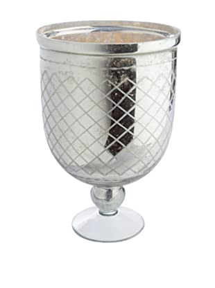 Napa Home & Garden Hayworth Lattice-Etched Urn (Silver)