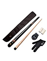 JBB combo 16(American pool cue metal joint 12mm,black cue cover,glove,chalk holder n two tip caps)