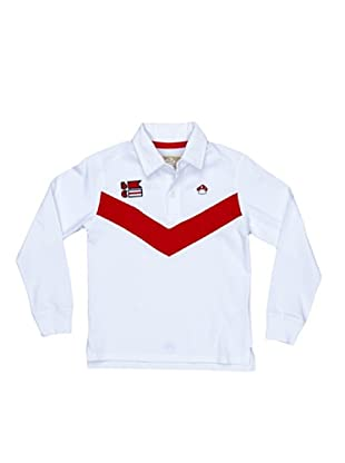 Bloom Polo Rugby Contrastes (blanco)