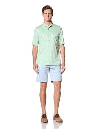 Bobby Jones Men's Triple Bar Stripe Liquid Cotton Polo (Lime)