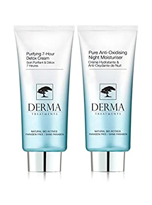 DERMA TREATMENTS Kit Facial 2 Piezas Pure Anti-Oxidising+Purifying 7- Hour