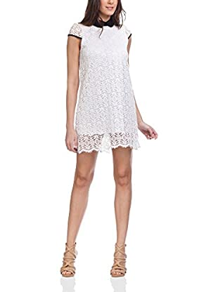 Tantra Kleid Lace With White Round Neck