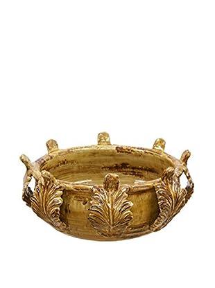 Winward Acanthus Bowl, Mustard