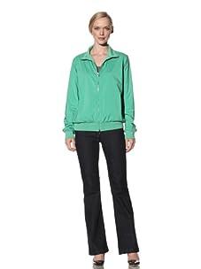 Loro Piana Women's Reversible Bomber Windmate Jacket (Light Summer Green)