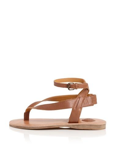 MaxStudio Women's Limo Ankle-Strap Thong Sandal (Terracotta)