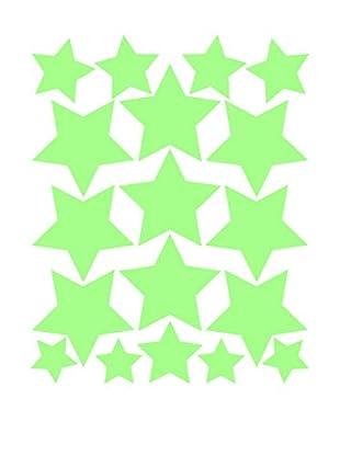 Ambiance Sticker Wandtattoo 18 tlg. Set Fluorescent Stars