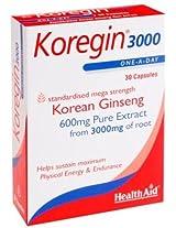 HealthAid Korean ginseng 600 mg 30 capsules
