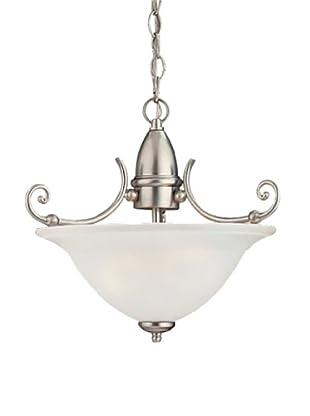 Sea Gull Lighting Canterbury 2-Light Pendant, Brushed Nickel