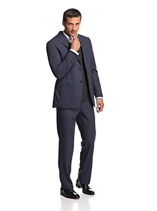 Samuelsohn Men's Micro Houndstooth Suit (Navy Check)