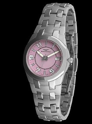 Sandoz 71568-07 - Reloj Col. Diver Acero Sumergible plata / rosa