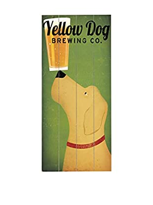Artehouse Yellow Dog Brewing Co. Wood Wall Décor, Green/Beige