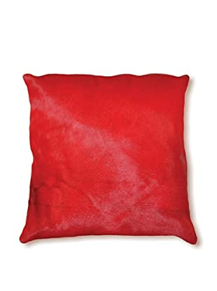 Natural Brand Torino Cowhide Pillow, Red