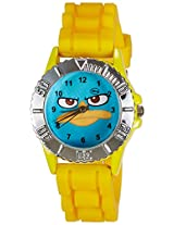 Disney Analog Multi-Color Dial Boys's Watch - LP-1008 (Yellow)