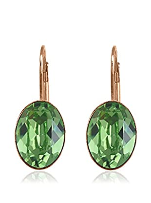 Annie Ram Pendientes Oval Crystal Verde
