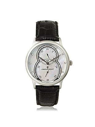Christian Van Sant Women's CV5410 Infinie Black/White MOP Stainless Steel Watch