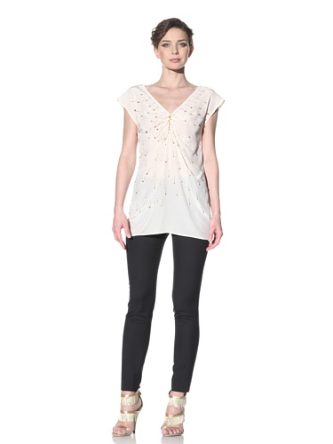 Moschino Cheap and Chic Women's Safety Pin Top (Ivory)