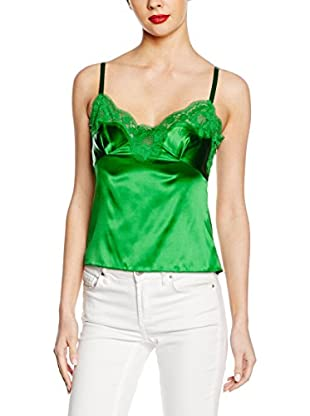 Dolce & Gabbana Top Seta  Verde IT 40