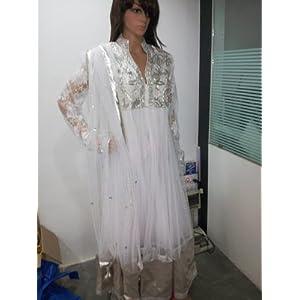 Urmila Style White Anarkali Suit-U01