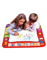 80 x 60cm Water Drawing Mat Children Painting Writing Doodle Toy With Magic Pens