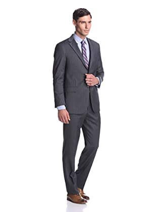 Hickey Freeman Men's Pinstripe Suit (Grey)