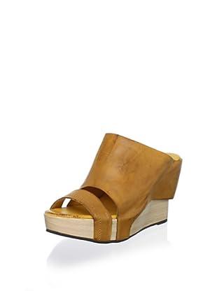 Antelope Women's High-Wedge Slide Sandal (Mustard)