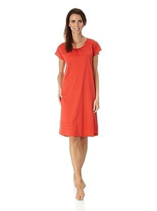 Hanro Nachthemd 1/2 Arm 100 cm Stella (Rot)