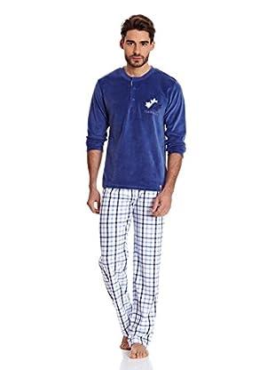 Bluedreams Pijama Tundosado (Azul Marino)