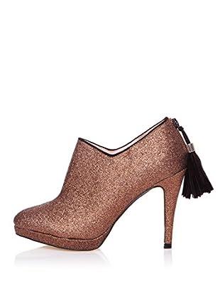 Furiezza Zapatos Abotinados Cremallera (Marrón)