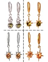 Sharnam Art Beautiful Collection Multicolor Brass & Stone Dangle Earring For Women - 301_Eirring_co2